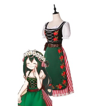 BNHA MHA Tsuyu Asui Anime Cosplay Costumes Beautiful Long Dress