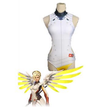 Mercy Yellow Swiming Suit Video Game Cosplay Costumes