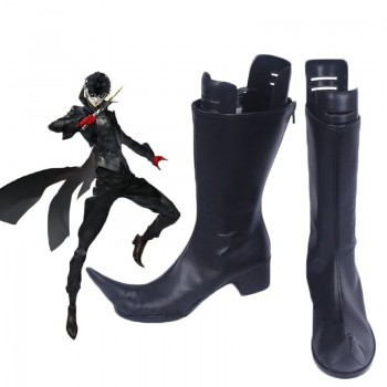 Persona 5 Joker Black Boots Cosplay Shoes