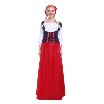 Womens Germany Oktoberfest Beer Bar Dress Cosplay Costume
