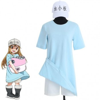 Hataraku Saibou Cells at Work Platelet Anime T Shirt Shorts Hat Dress Cosplay Costume