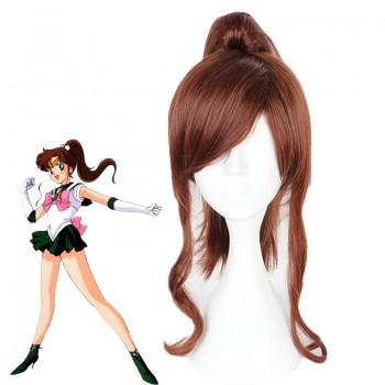 Sailor Moon Kino Makoto Long Brown Cosplay Wig
