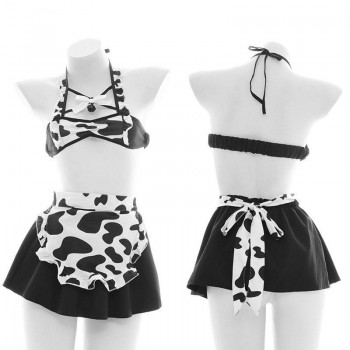 Sexy Maid Cows Lingerie Cosplay Costume