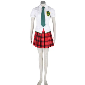 Neon Genesis Evangelion Makinami Mari Illustrious Shool Uniform Cosplay Costume