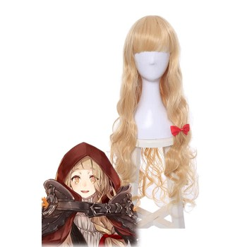 SINoALICE Little Red Riding Hood Long Golden Synthetic Game Cosplay Wigs