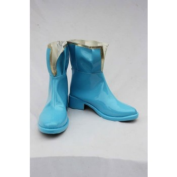 Puella Magi Madoka Magica Anime Miki Sayaka Blue Cosplay Shoes Boots Custom-Made