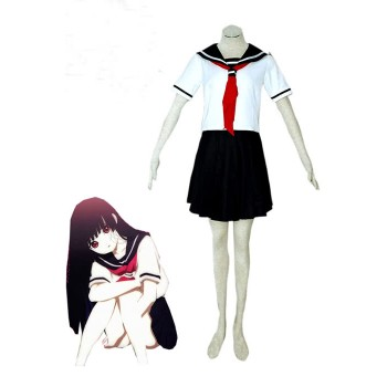Hell Girl Enma Ai Summer School Girl Sailor Uniform Cosplay Costume