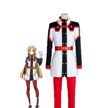 Sword Art Online Asuna Yuuki Red Anime Cosplay Costumes