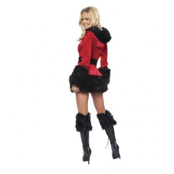 New arrival Christmas dress red and black beautiful party costume