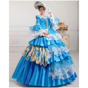 Court Dress British Costume European Style Cosplay Costume