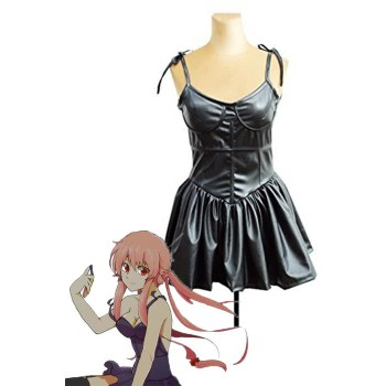 The Future Diary Yuno Gasai Black Dress Cosplay Costume