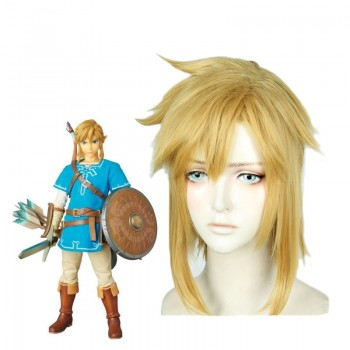 The Legend of Zelda: Breath of the Wild Link Blonde Cosplay Wigs
