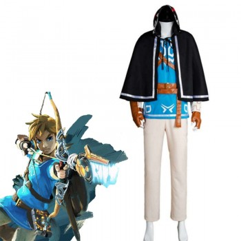 The Legend of Zelda: Breath of the Wild Link  Cosplay Costume Full Sets