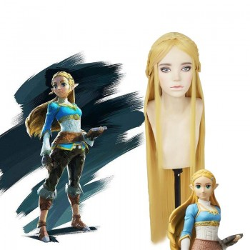 The Legend of Zelda: Breath of the Wild Princess Zelda Blonde Long Cosplay Wigs