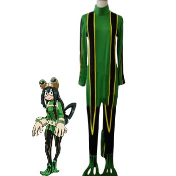 BNHA MHA Tsuyu Asui Anime Cosplay Costumes Battle Costumes
