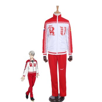 Yuri on Ice Victor Nikiforov Cosplay Costumes Sportswear Suits