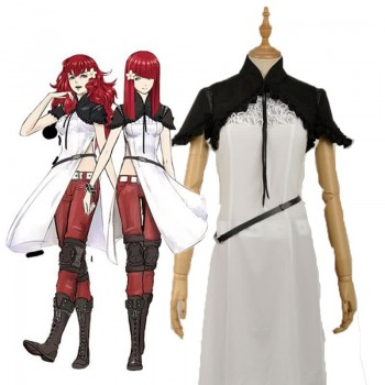 Video Game Nier Mechanical Era Devola Popola Red Game Cosplay Costumes