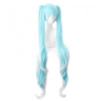 White Blue Mixed Color Cosplay Wigs