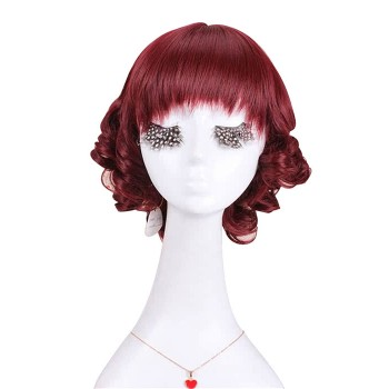 With Neat Bang Lolita Bobo Short Wine Fashion Wigs