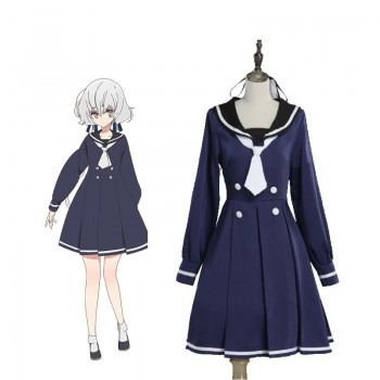 ZOMBIE LAND SAGA Konno Junko Uniform Dress Cosplay Costume