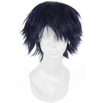 30cm Dark Blue Ren From Dramatical Murder Reconnect Cosplay Wig