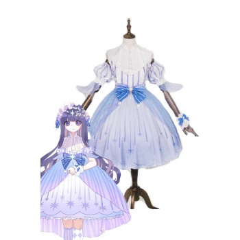 Cardcaptor Sakura Tomoyo Daidouji Lolita Blue Dress Cosplay Costumes