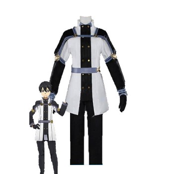 Sword Art Online Kirigaya Kazuto Black And White Uniform Cosplay Costume