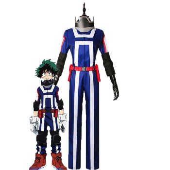 BNHA MHA Izuku Midoriya Anime Cosplay Blue Uniform Costumes