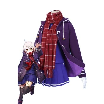 Fate/Grand Order Mysterious Heroine X Purple Cosplay Costume