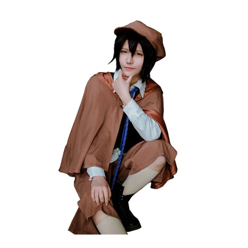 Details about  /Men Cosplay Black Leather Shoes Bungo Stray Dogs Edogawa Ranpo Cos Costume Props