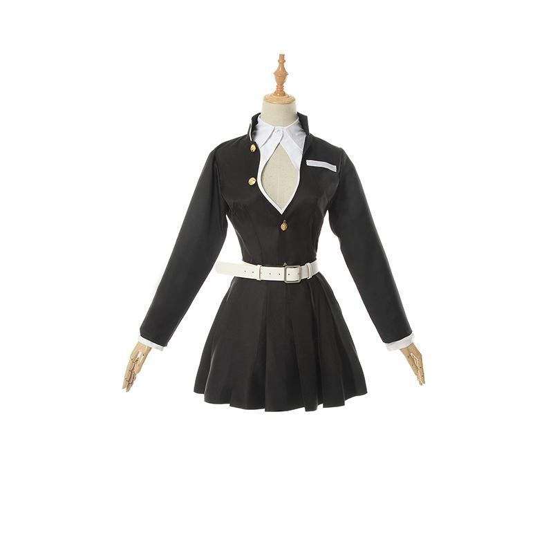 Demon Slayer Kanroji Mitsuri Female Uniform Cosplay Costume For Sale Rolecosplay Com She wears a modified version of the demon slayer outfit in which her chest area is left unbuttoned and instead of. demon slayer kanroji mitsuri female