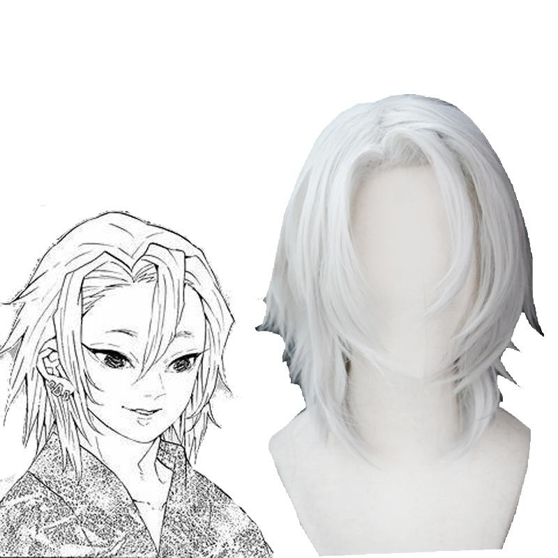 Demon Slayer Uzui Tengen 2 Style White Cosplay Wigs For Sale Rolecosplay Com She's always been that way, so delicate and. demon slayer uzui tengen 2 style white