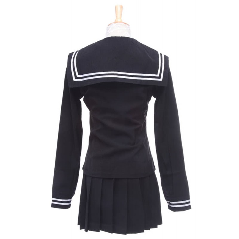 Enma Ai Black Sailor Cosplay Dress School Uniform Animejigoku shoujo Halloween