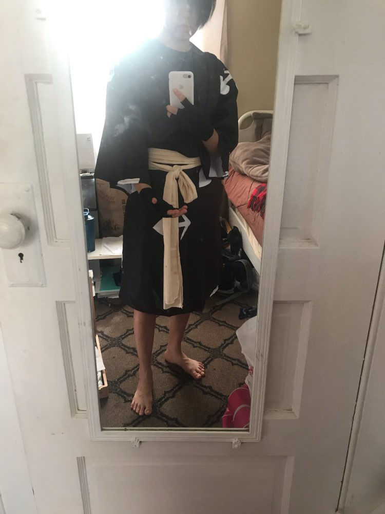 The kimono is good quality. The package is included clothes for the arms and ankles, cloth for the waist. I'm so excited to cosplay Hyakkimaru this year~. Thank you!