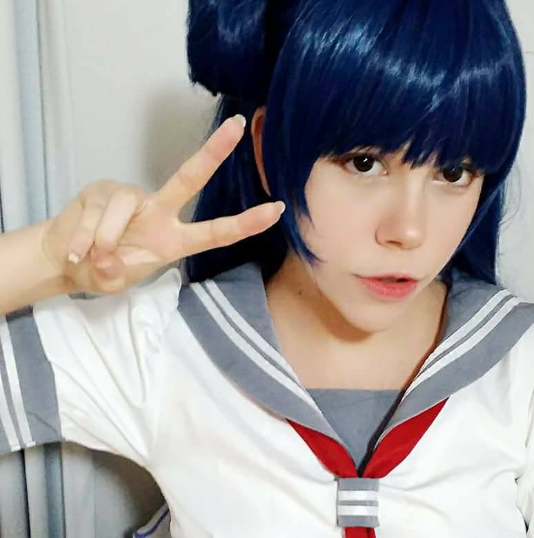 Love Live!Sunshine!! Tsushima Yoshiko Long Blue Female Cosplay Wigs