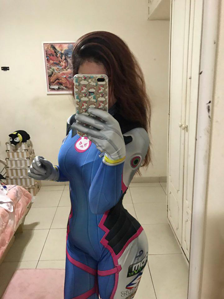 Overwatch D.Va Costume Cosplay Suit Hana Song Video Game Leotard Jumpsuits Cosplay Costumes