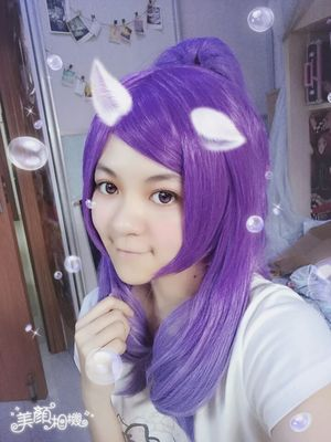 League of Legends Janna Magical Girl Purple Long Synthetic Cosplay Wigs with Ponytails
