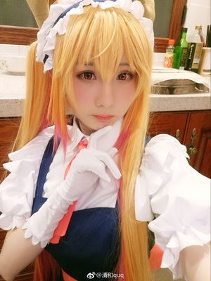 Miss Kobayashi's Dragon Maid Tohru Long Golden Cosplay Wigs