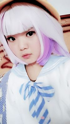 Miss Kobayashi's Dragon Maid Kanna Kobayashi Synthetic Long Purple Anime Cosplay Wigs