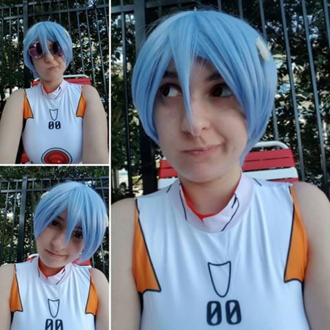 Neon Genesis Evangelion Ayanami Rei Short Light Blue Cosplay Wigs