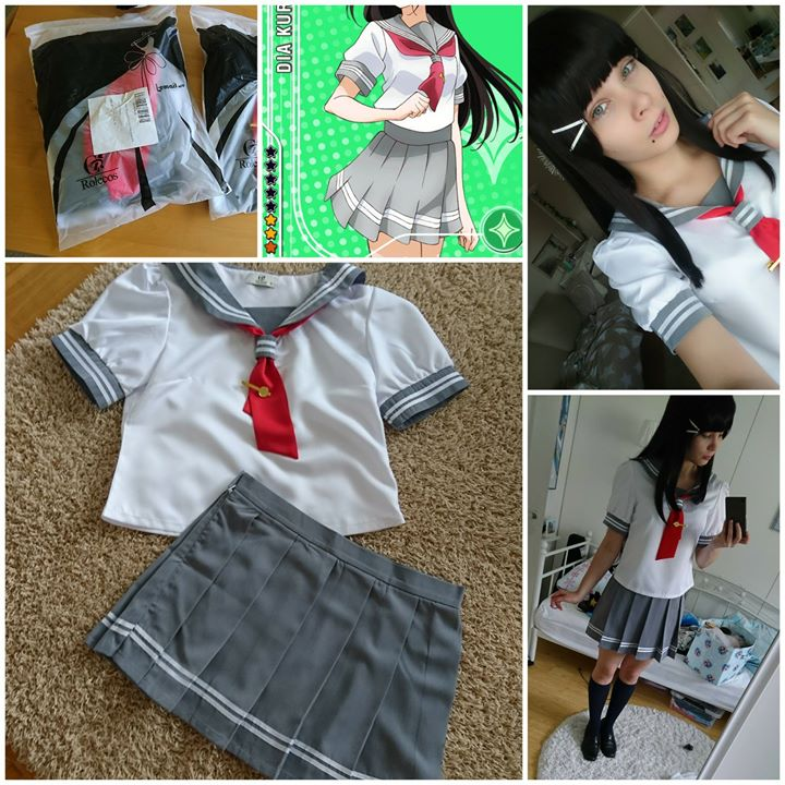 Love Live! Sunshine!! Cosplay Costume Aqours Takami Chika Anime Girls School Uniform