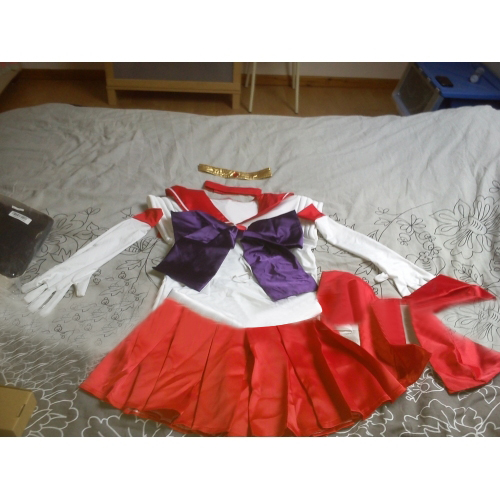 Anime Sailor Moon Rei Hino / Sailor Mars Fancy Dress Cosplay Costume