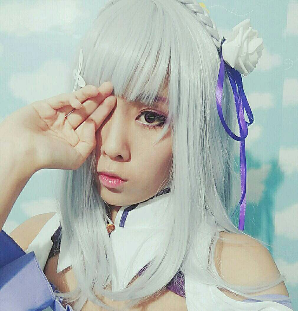 Re:ZERO -Starting Life in Another World Emilia Synthetic Anime Long Grey Cosplay Wigs